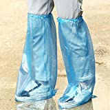 10pc Outdoor Waterproof Disposable Shoe Cover Thick Wear-resistant Rain Boot Cover (Blue, 64*33cm (±1cm))