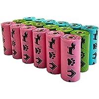 PET N PET Pet Waste Bags Dog Poop Bags Earth-Friendly Leak-Proof Rainbow Color 270 Counts Lavender Scented