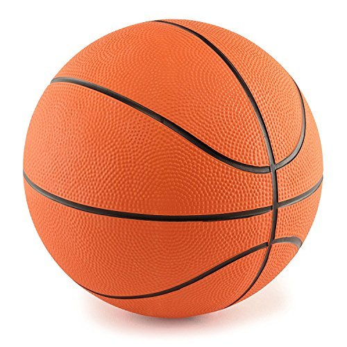5 Inch Mini Rubber Basketball (5 Inch Mini Rubber Basketball: 2 Pack of Youth Basketballs For Kids - Perfect Indoor Or Outdoor Junior Basketballs - Great For Mini Basketball Hoops And Pool Basketball Sets - M & M Products Online)