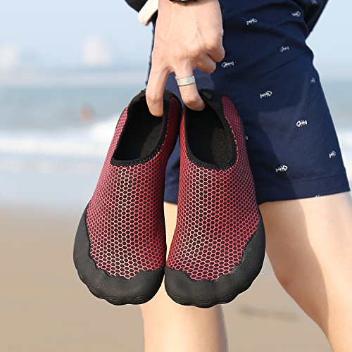 red Chaude Eau Beach Surf Chaussettes Fivefinger Womens Shoes Piscine Aqua Sea Barefoot Katliu ZgSqvT7