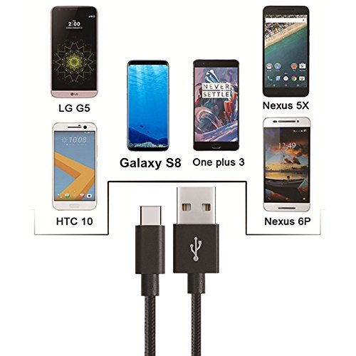 USB-Type-C-Cable-MCUK-3-Pack-3ft-6ft-10ft-Lightning-Cable-Charging-Cord-Nylon-Braided-Data-Sync-Cable-for-Samsung-Galaxy-S8-Macbook-12-inch-Moto-Z-LG-G5G6-Google-Pixel-3ft6ft10ftBlack