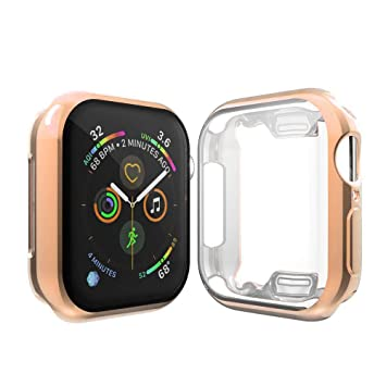 Cerike Compatible Apple Watch Series 4 Protector de Pantalla, Funda Protectora Suave y Completa para iWatch 4 Apple Watch Serie 4 Smartwatch (44MM, ...