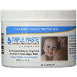 Triple Paste Medicated Ointment for Diaper Rash, Fragrance Free, Hypoallergenic