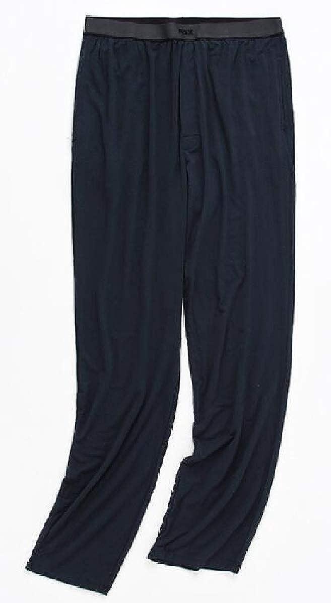 YIhujiuben Mens Loose Jersey Soft Modal Plus-Size Sleepwear Comfort Sleep Pant