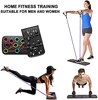 KBY Push Up Board 12-in-1 Workout Board Portable Push Up Board Training System for Men Women Home Fitness Training