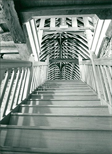 Vintage photo of The new oak staircase with its superb for sale  Delivered anywhere in USA