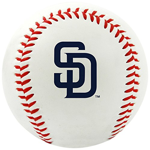 MLB San Diego Padres Team Logo Baseball, Official, White