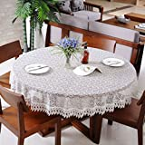 European art hollow glass gauze cloth,round table cloth tables flag-C diameter200cm(79inch)