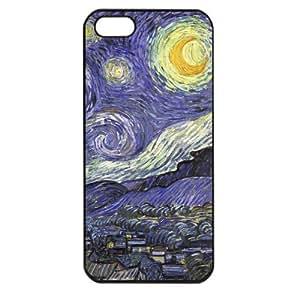 Vincent van Gogh starry night Apple iPhone 5 TPU Soft Black or White case (Black)