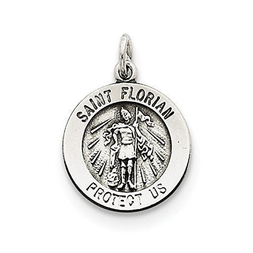 - 925 Sterling Silver Saint Florian Medal Pendant Charm Necklace Religious Patron St Fine Jewelry Gifts For Women For Her