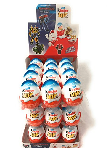 Chocolate Kinder Joy Eggs For Boys With Surprise Inside   Ships From Usa    Display W  36
