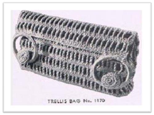 #1549 TRELLIS BAG VINTAGE CROCHET PATTERN