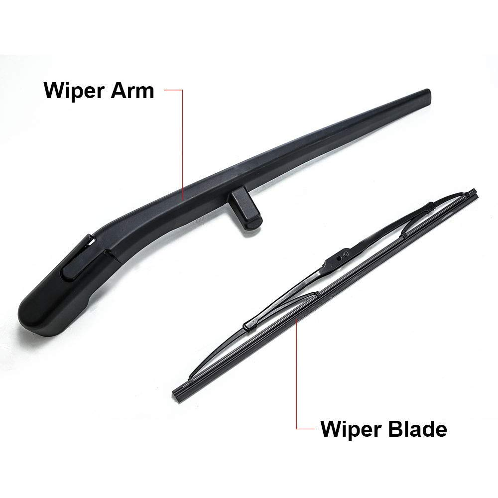 68034342AA Rear Wiper Arm and Blade Set for Jeep Liberty 2008-2012 Back windshield Wiper Arm Blades Replace OE