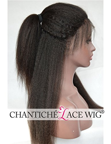 Chantiche Natural Looking Italian Yaki Glueless Full Lace Wigs with Baby Hair for Black Women Best Brazilian Remy Human Hair Wig 130 Density 16inch Natural Color by Chantiche Lace Wig (Image #2)
