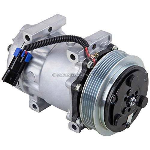 New AC Compressor & A/C Clutch For Freightliner Replaces Sanden 4473 4430 - BuyAutoParts 60-02146NA New