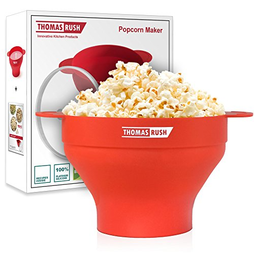 Microwave Popcorn Popper - Microwave Popcorn Maker for Home - Collapsible Silicone Bowl