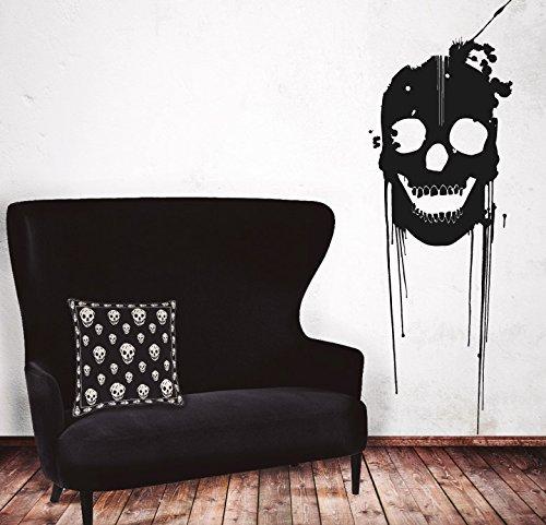 MYVINILO - Vinilo decorativo - Skull / negro (30 x 90 cm ...