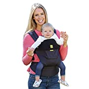 LÍLLÉbaby The COMPLETE Original SIX-Position, 360° Ergonomic Baby & Child Carrier, Black - Cotton Baby Carrier, Comfortable and Ergonomic, Multi-Position Carrying for Infants Babies Toddlers