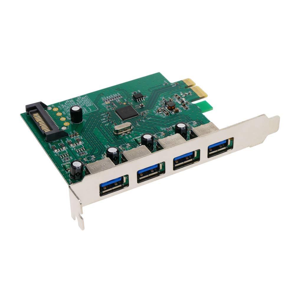 BeMatik - Tarjeta PCI-Express a SuperSpeed USB 3.0 de 4 ...