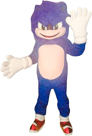 Amazon Com Sonic The Hedgehog Mascot Costume Character Cosplay Party Birthday Event Blue Clothing