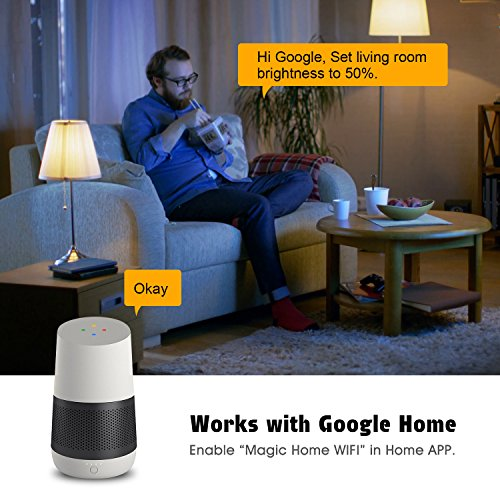 Smart Led Bulb, Warm White 65W Equivalent Dimmable Smart Led Light Bulb can Work with Alexa/Amazon Echo and Google Home.No Hub Required, CE/FCC/UL Listed (2-Pack-6.5W) … by GeekDigg (Image #3)