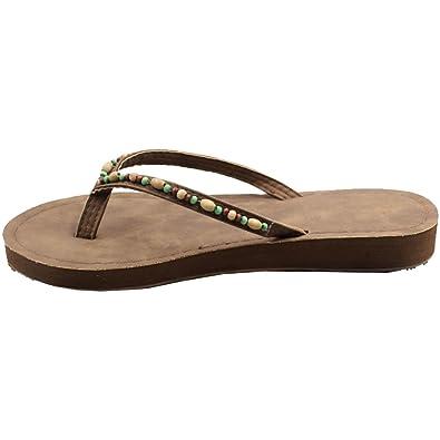 Eastlion Frauen und Mädchen Blumen Design Bequeme Sommer Hausschuhe Flip Flops Strings Strand Hausschuhe Schuhe, Rot 40