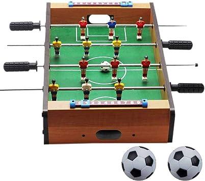 Lopbinte Nuevo Futbolito De PláStico FutbolíN BalóN De FúTbol FúTbol Regalos Deportivos Juego De Interior Redondo: Amazon.es: Juguetes y juegos