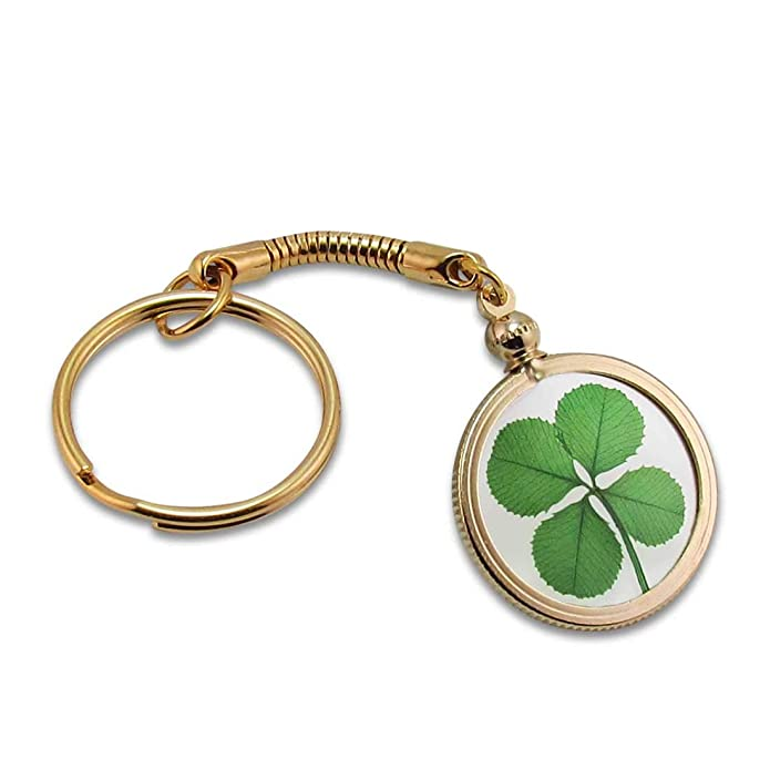 Amazon.com: Oro Encanto Llavero con trébol de auténtica: Jewelry