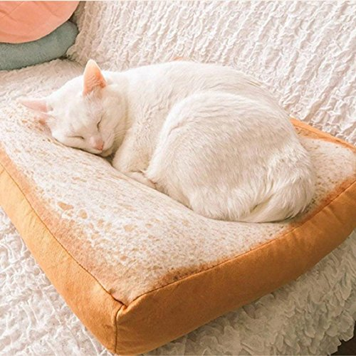 Naladoo Pet Cat Small Dog Toast Cushion Sofa Home Soft Warm Mat Sleeper Pad Washable Pet Supplies Kittens Special Bed (Mission Sleeper Sofa)