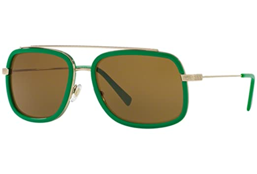 42c1617f8fa4 Amazon.com  Sunglasses Versace VE 2173 139073 PALE GOLD GREEN  Clothing