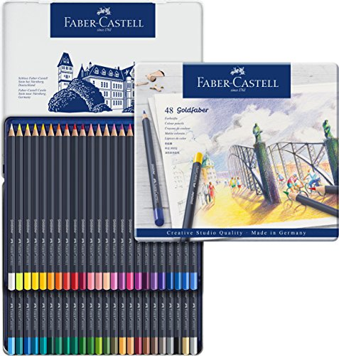 Faber-Castell Creative Studio Goldfaber Wood Cased Color Pencils - Tin (48 Count)
