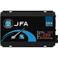 Fonte Automotiva JFA 200A 10000W SCI Carregador Bivolt Automático LED Voltímetro Amperímetro