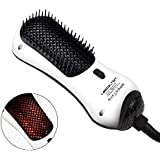 Lescolton Infrared Mini One Step Hair Dryer & Styler Hot Air Paddle Brush | Negative Ion Generator Hair Straightener For All Hair Types | Eliminate Frizzing, Tangled Hair & Knots, Promote Healthy