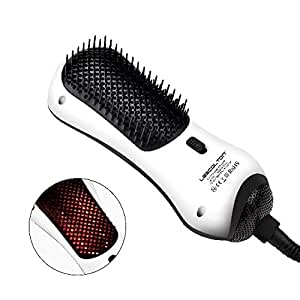 Lescolton Infrared Mini One Step Hair Dryer & Styler Hot Air Paddle Brush   Negative Ion Generator Hair Straightener For All Hair Types   Eliminate Frizzing, Tangled Hair & Knots, Promote Healthy