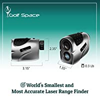 Golf Space Golf Laser Range Finder Rangefinder Binoculars Power Device with High Precision. Measuring Distance Slope Angle and Flag Lock. Hunting Binocular Rangefinders. Battery Included