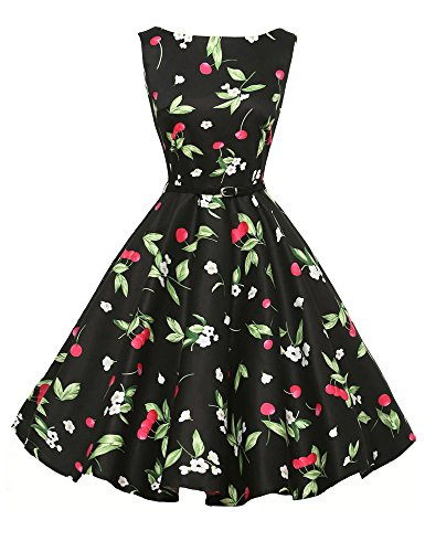 60s Vintage Spring Swing Dress Women A-Line Size M F-5 -