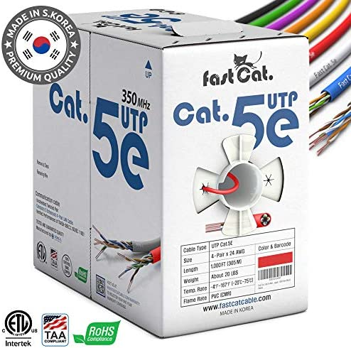 fastCat Cat5e Ethernet Cable 1000ft product image