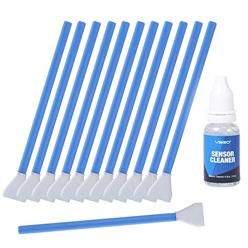 APS-C Frame (CCD/CMOS) Digital Camera Sensor Cleaning Swab Type 2 Cleaning Kit (Box of 12 X 16mm Swab + 15ml Sensor Cleaner) ()