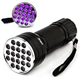 OVOS UV LED flashlight/black light UV Lamp Flashlight-- 21 LED-395nm with 3 x AAA batteries
