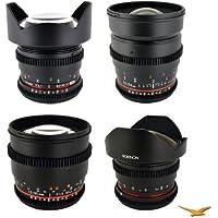 Rokinon Sony E-Mount 4 Cine Lens Kit (14mm T3.1, 24mm T1.5, 85 mm T1.5, 8mm T3.8)