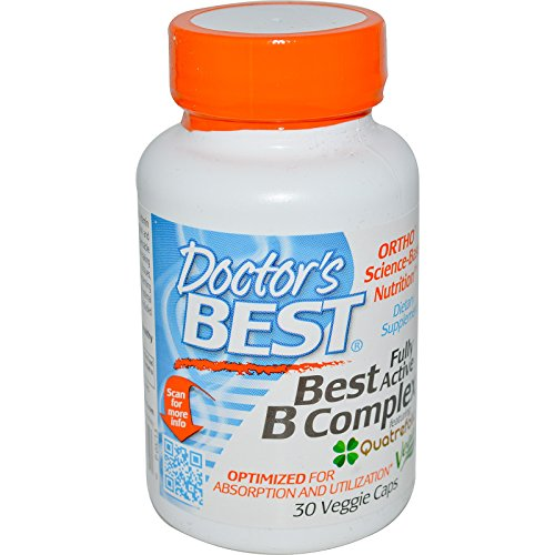 Doctor's Best, Best Fully Active B Complex, 30 Veggie Caps – 2pc For Sale