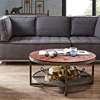 Round Coffee Table Sheridan/Chestnut/Pewter