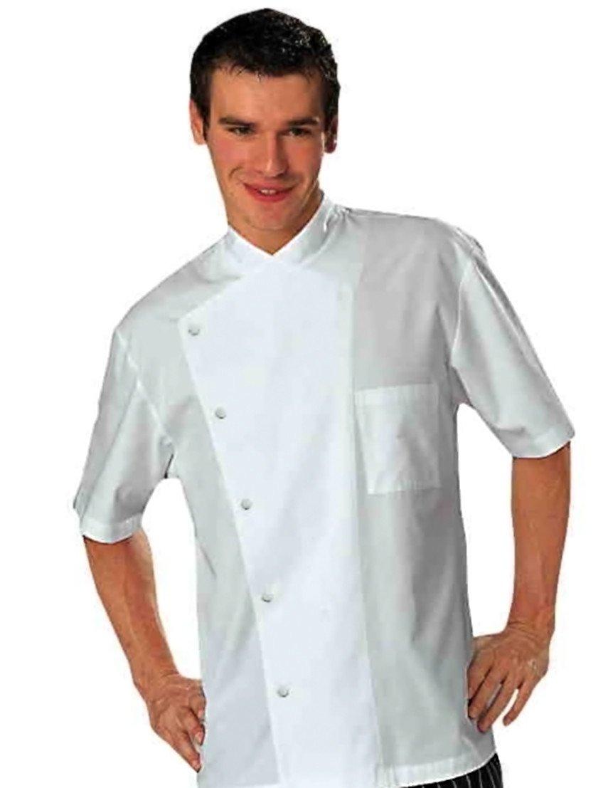 Bragard Men's Julius Short Sleeve Chef Jacket 40 White