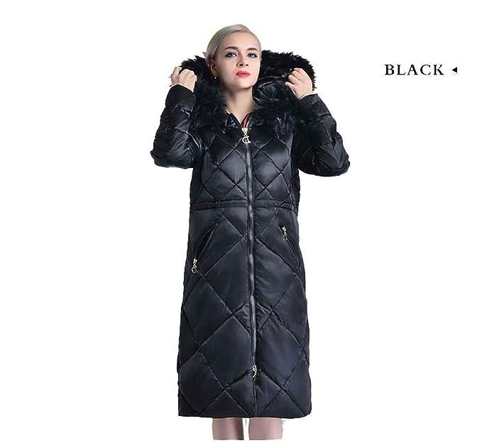 Abrigo de mujer de invierno Parka Ropa de piel sintética grande Abrigo de mujer cálido Chaqueta de mujer de nylon brillante Más Tamaño, l: Amazon.es: Ropa y ...