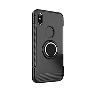 Amazon.com : Voberry Finger Ring Holder Stand Case Cover Buckle Bumper Compatible Apple IPhone Xs Max 6.5inch (Black) : Beauty