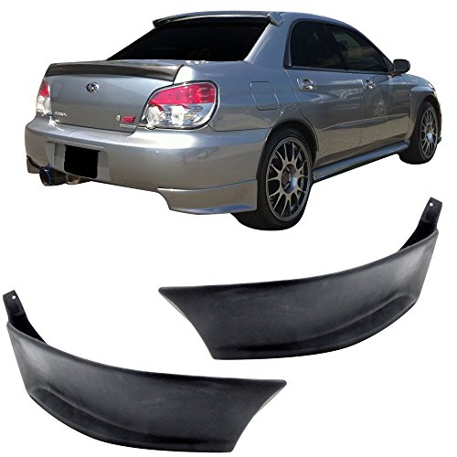 2002 Subaru Impreza Wrx Wagon (02-07 Subaru Impreza WRX Add-On Poly-Urethane Rear Bumper Lip Spoiler Bodykit 2PCS)