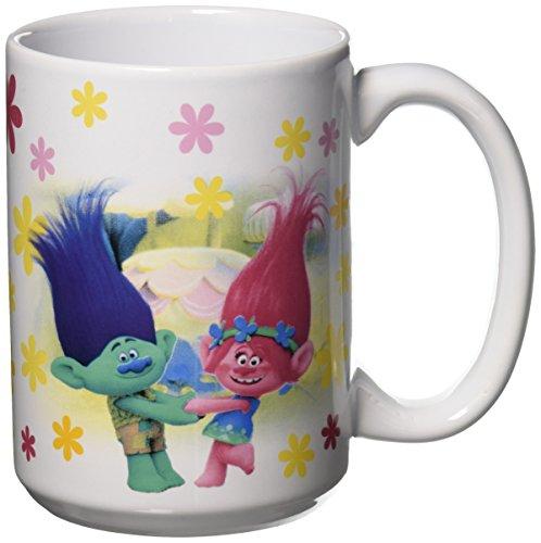 Zak Designs TROH-1590 Trolls Movie Ceramic Mug, Multicolor