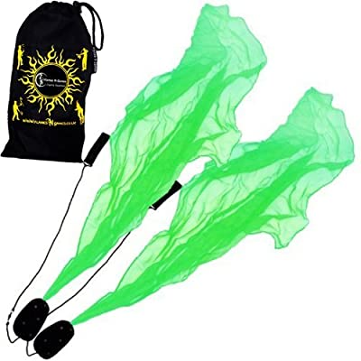 Angel Poi Spiral Poi- Practice Poi (Green) by Flames N Games + Travel Bag!: Toys & Games