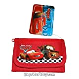 New Disney Cars Mcqueen Red Trifold Wallet Storm Piston Cup