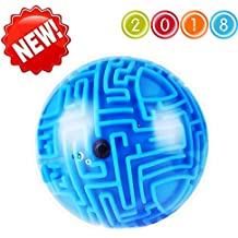 Intellect 3D Maze Puzzle Ball, Magic Ball Bearing Educational Globe Sphere Bulk Labyrinth Toys Brain Teaser game Best Gifts for Adults Kids Children Birthday Xmas
